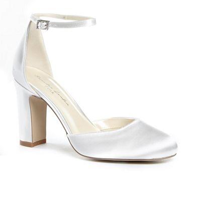 Pink by Paradox Paradox Paradox London - Satin 'celina' high heel block heel court shoes 04312f