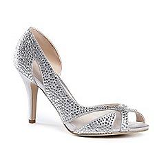 Pink by Paradox London - Diamante 'catrina' high heel stiletto heel peep toe shoes