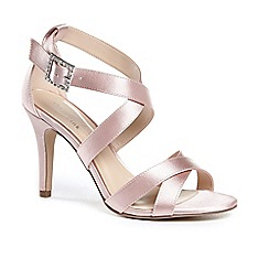 Pink by Paradox London - Satin 'macpherson' high heel stiletto heel ankle strap sandals