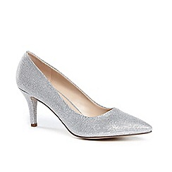 Pink by Paradox London - Glitter 'appointed' mid heel kitten heel court shoes