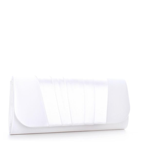 clutch London Pleated Pink Ivory Paradox bag 'Delilah' by 6SnwgqY