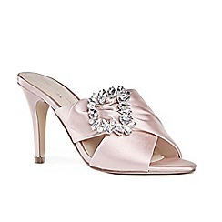 Pink by Paradox London - Pink satin 'Marabelle' high heel stiletto mules