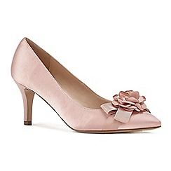 Pink by Paradox London - Pink satin 'Adaline' mid heel stiletto court shoes