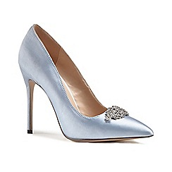 Pink by Paradox London - Blue satin 'Alandra' high heel stiletto court shoes