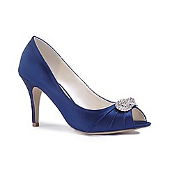 Blue satin 'Alaina' mid heel stiletto court shoes supply for sale cheap prices authentic best wholesale for sale wiki 9tQHp