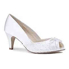 dfd94baf9edc Pink by Paradox London - Ivory satin  Dariela  mid heel extra wide EEE fit