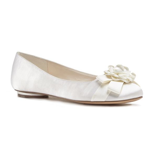 'Haydyn' London flat satin Paradox Ivory pumps by Pink xOXqAA