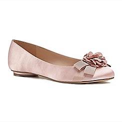 Pink by Paradox London - Pink satin 'Haydyn' flat pumps