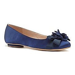 Pink by Paradox London - Blue satin 'Haydyn' flat pumps
