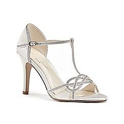 Pink by Paradox London - Ivory 'Maddox' high heel stiletto t-bar sandals