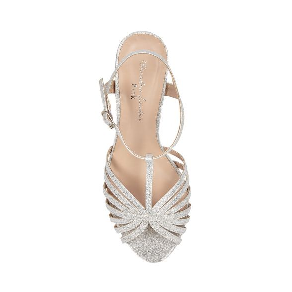 Silver Pink mid glitter by bar t Paradox sandals London 'Maggie' heel stiletto CaZAqa