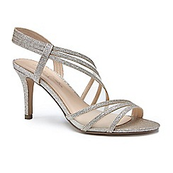 Pink by Paradox London - Gold glitter and mesh 'Marina' high heel stiletto sandals