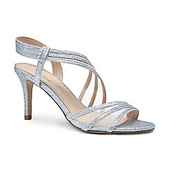 Pink by Paradox London - Silver glitter and mesh 'Marina' high heel stiletto sandals