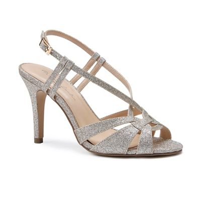 Pink by Paradox London - Gold glitter 'Mandi' high heel stiletto sandals