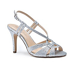 Pink by Paradox London - Silver glitter 'Mandi' high heel stiletto sandals