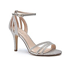 Pink by Paradox London - Gold glitter 'Melody' high heel stiletto ankle strap sandals