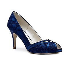 Pink by Paradox London - Blue lace 'Cherie' high heel stiletto peep toe shoes