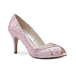 Pink by Paradox London - Pink lace 'Cherie' high heel stiletto peep toe shoes