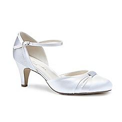Pink by Paradox London - Ivory satin 'Annie' mid heel stiletto court shoes