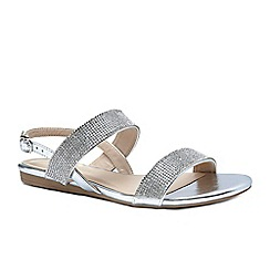 Pink by Paradox London - Silver diamante 'Nirvana' flat sandals