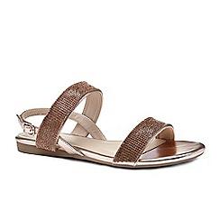 Pink by Paradox London - Gold diamante 'Nirvana' flat sandals