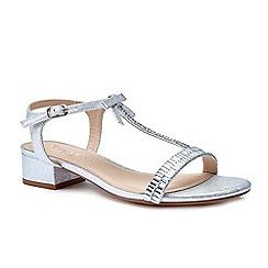 Pink by Paradox London - Silver glitter 'Nala' flat t-bar sandals