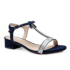 Pink by Paradox London - Blue glitter 'Nala' flat t-bar sandals