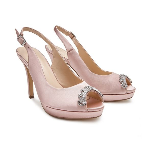 peep toe heel Paradox Pink by London Satin platform Pink 'Paloma' high shoes 6anz7qx