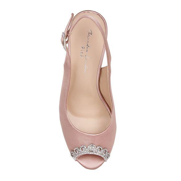 peep toe heel Paradox Pink by London Satin platform Pink 'Paloma' high shoes 6anz7qx