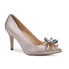 Pink by Paradox London - Cream 'Cara' high heel stiletto heel court shoes