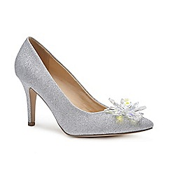 Pink by Paradox London - Silver 'Cara' high heel stiletto heel court shoes
