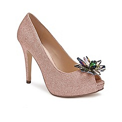 Pink by Paradox London - Pink 'Savannah' high heel platform peep toes
