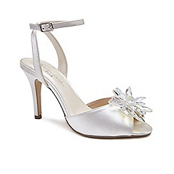 41b21512e32 Pink by Paradox London - Ivory  Stephanie  high heel stiletto heel ankle  strap sandals