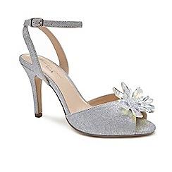 Pink by Paradox London - Silver 'Stephanie' high heel stiletto heel ankle strap sandals