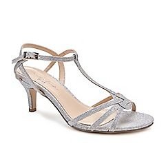 Pink by Paradox London - Silver Glitter  Lennon  mid heel wide fit sandals