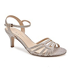Pink by Paradox London - Gold Glitter 'Laurie' mid heel wide fit sandals