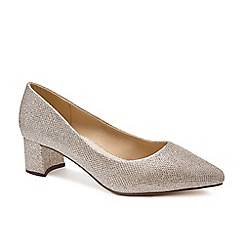 2dee9b09762272 Pink by Paradox London - Gold Glitter  Lucile  low heel wide fit court shoes