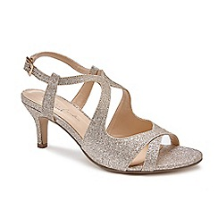 Pink by Paradox London - Gold 'Sara' Mid heel stiletto heel ankle strap sandals