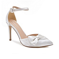 Pink by Paradox London - Ivory Satin 'Channah' high heel stiletto heel pointed shoes