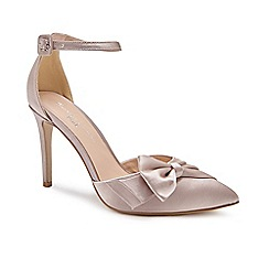 Pink by Paradox London - Gold Satin 'Channah' high heel stiletto heel pointed shoes