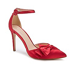 Pink by Paradox London - Satin 'Channah' high heel stiletto heel pointed shoes