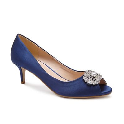 Pink by Paradox London - Blue 'Prunella' peep mid heel stiletto heel peep 'Prunella' toe shoes c7478e
