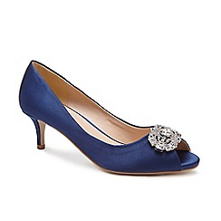 Pink by Paradox London - Blue 'Prunella' mid heel stiletto heel peep toe shoes