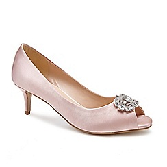 Pink by Paradox London - Pink 'Prunella' mid heel stiletto heel peep toe shoes
