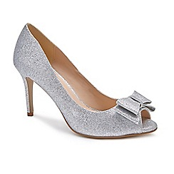 Pink by Paradox London - Silver Glitter 'Piper' high heel stiletto heel peep toe shoes