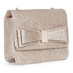 Pink By Paradox London Gold Glitter Pippa Clutch Bag