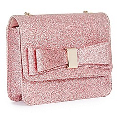 Pink By Paradox London Glitter Pippa Clutch Bag
