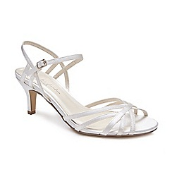 28b76a2c55ab Pink by Paradox London - Ivory  Harper  mid kitten heel ankle strap sandals