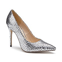 Pink by Paradox London - Silver Metallic snake print 'Cairo' high heel court shoes