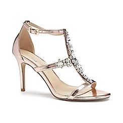 Pink by Paradox London - Pink Metallic 'Stella' high heel sandals